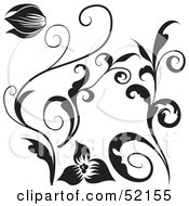 Poster, Art Print Of Digital Collage Of Floral Elements - Version 5