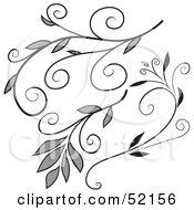 Poster, Art Print Of Digital Collage Of Floral Elements - Version 1