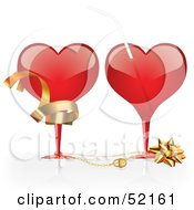Royalty Free RF Clipart Illustration Of A Digital Collage Of Red Love Heart Elements Version 6