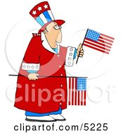 Grumpy Uncle Sam Clipart by Dennis Cox