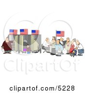 American People Voting For The Next President Of The United States Clipart