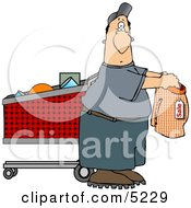 Man Shopping For Underwears Clipart