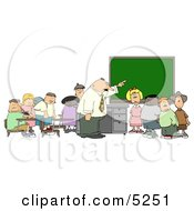 TeacherAmpElementary Students In Classroom Clipart by Dennis Cox