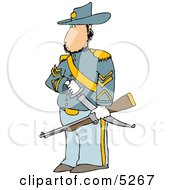 Union Soldier Armed With A Sword  Rifle