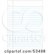 Royalty Free RF Clipart Illustration Of A Ruled Binder Paper Background With Hole Punches