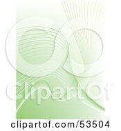 Royalty Free RF Clipart Illustration Of A Pastel Green Background With Wavy Lines by David Barnard
