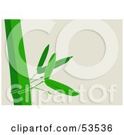 Royalty Free RF Clipart Illustration Of A Stalk Of Green Bamboo Growing Along A Faint Background by David Barnard