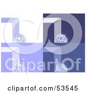 Royalty Free RF Clipart Illustration Of A Digital Collage Of Abstract Waterfall And Bubble Backgrounds