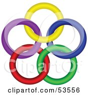 Royalty Free RF Clipart Illustration Of A Star Made Of Colorful Rings