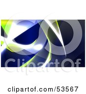 Royalty Free RF Clipart Illustration Of A Background Of Blue And Yellow Swooshes And Bright Lights Version 4