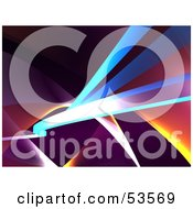 Royalty Free RF Clipart Illustration Of An Abstract Swoosh Background Version 6