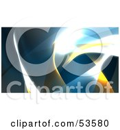 Royalty Free RF Clipart Illustration Of A Background Of Blue And Yellow Swooshes And Bright Lights Version 2