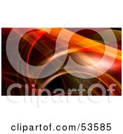 Royalty Free RF Clipart Illustration Of A Red And Orange Fractal Swoosh Background Version 1