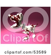 Royalty Free RF Clipart Illustration Of A Mean 3d Dog Wearing A Spiked Collar Version 3 by Julos