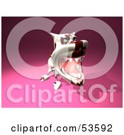 Royalty Free RF Clipart Illustration Of A Mean 3d Dog Wearing A Spiked Collar Version 6 by Julos