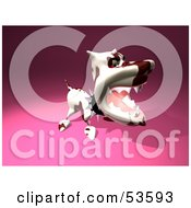 Royalty Free RF Clipart Illustration Of A Mean 3d Dog Wearing A Spiked Collar Version 5 by Julos