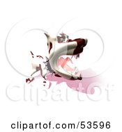 Royalty Free RF Clipart Illustration Of A Mean 3d Dog Wearing A Spiked Collar Version 12 by Julos