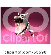 Royalty Free RF Clipart Illustration Of A Mean 3d Dog Wearing A Spiked Collar Version 7 by Julos