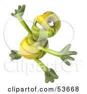 3d Green Tortoise Doing A Happy Dance Version 3 by Julos