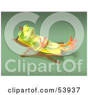 Cute 3d Green Tree Frog Sun Bathing Pose 5 by Julos