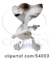 Royalty Free RF Clipart Illustration Of A 3d Jack Russell Terrier Pooch Character Dancing Pose 5