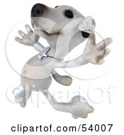 Royalty Free RF Clipart Illustration Of A 3d Jack Russell Terrier Pooch Character Leaping