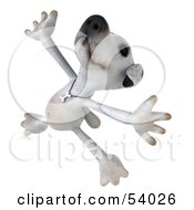 Royalty Free RF Clipart Illustration Of A 3d Jack Russell Terrier Pooch Character Dancing Pose 4