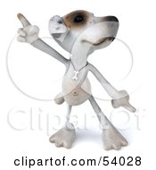 Royalty Free RF Clipart Illustration Of A 3d Jack Russell Terrier Pooch Character Dancing Pose 1