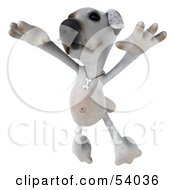 Royalty Free RF Clipart Illustration Of A 3d Jack Russell Terrier Pooch Character Dancing Pose 3