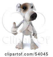 3d Jack Russell Terrier Pooch Character Giving The Thumbs Up Pose 1 by Julos