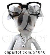 3d Jack Russell Terrier Pooch Character Wearing Glasses Pose 1 by Julos