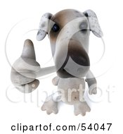 3d Jack Russell Terrier Pooch Character Giving The Thumbs Up Pose 3 by Julos