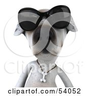 3d Jack Russell Terrier Pooch Character Wearing Sunglasses - Pose 1