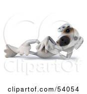Royalty Free RF Clipart Illustration Of A 3d Jack Russell Terrier Pooch Character Reclined
