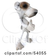 3d Jack Russell Terrier Pooch Character Giving The Thumbs Up Pose 2 by Julos