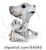 Royalty Free RF Clipart Illustration Of A 3d Jack Russell Terrier Pooch Character Meditating Pose 4