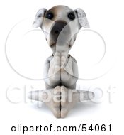 Royalty Free RF Clipart Illustration Of A 3d Jack Russell Terrier Pooch Character Meditating Pose 3