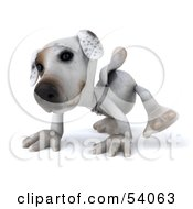 3d Jack Russell Terrier Pooch Character Walking On All Fours Pose 1 by Julos