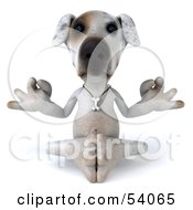 Royalty Free RF Clipart Illustration Of A 3d Jack Russell Terrier Pooch Character Meditating Pose 1