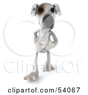 3d Jack Russell Terrier Pooch Character Walking Forward by Julos