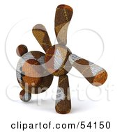 Royalty Free RF Clipart Illustration Of A 3d Sock Teddy Bear Character Doing A Cartwheel Version 3