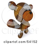 Royalty Free RF Clipart Illustration Of A 3d Sock Teddy Bear Character Dancing Or Waving