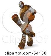 Royalty Free RF Clipart Illustration Of A 3d Sock Teddy Bear Character Waving