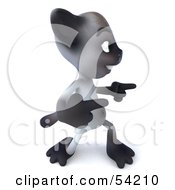 Royalty Free RF Clipart Illustration Of A 3d Siamese Pussy Cat Character Dancing Pose 5