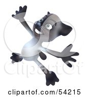 Royalty Free RF Clipart Illustration Of A 3d Siamese Pussy Cat Character Dancing Pose 4