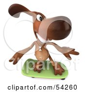Royalty Free RF Clipart Illustration Of A 3d Brown Pooch Character Skateboarding Pose 3