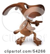 Royalty Free RF Clipart Illustration Of A 3d Brown Pooch Character Doing His Happy Dance Pose 5 by Julos