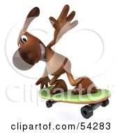 Royalty Free RF Clipart Illustration Of A 3d Brown Pooch Character Skateboarding Pose 5 by Julos