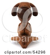 Royalty Free RF Clipart Illustration Of A 3d Brown Pooch Character Meditating Pose 3 by Julos