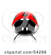 Royalty Free RF Clipart Illustration Of A 3d Shiny Ladybird Pose 2
